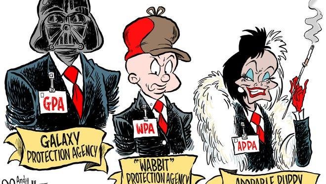 Trump appointments commentary from Andy Marlette