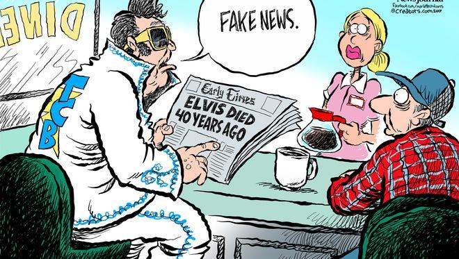 Fake news: Elvis dies