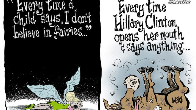 Hillary Clinton commentary by Andy Marlette