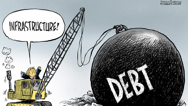 Digging a debt hole.