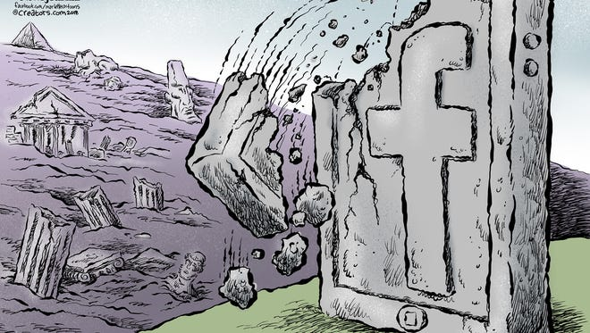 Facebook worship commentary by Andy Marlette