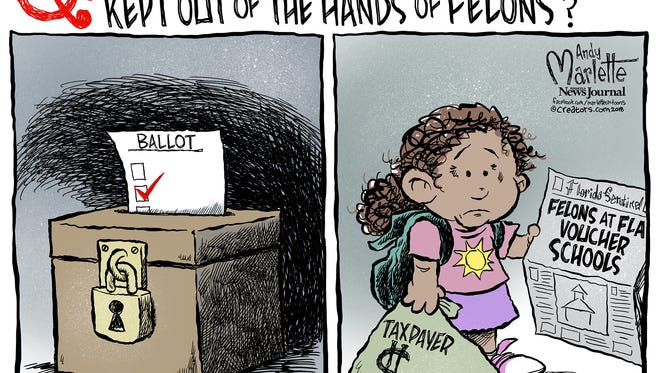 The Orlando Sentinel exposed that the state had failed to prevent felons from teaching kids at Florida voucher schools.