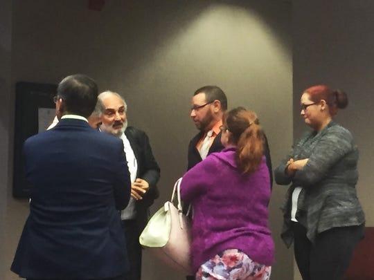Daniel Villegas, center, was in court in November 2016