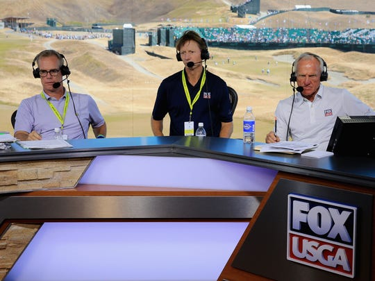 Joe Buck, left, and Fox need to work on their golf games.