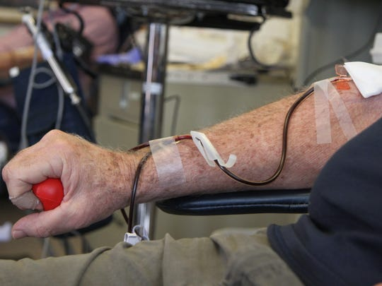 Bill Greene said he does not fear giving blood.