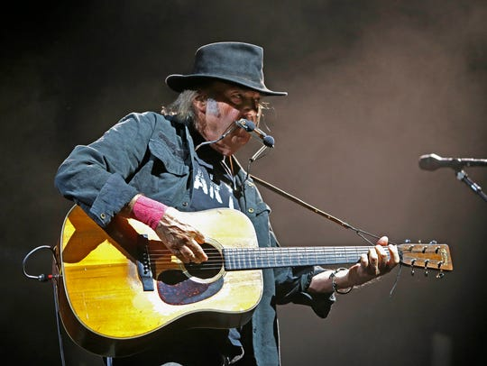 Neil Young, shown performing at Summerfest in 2015,