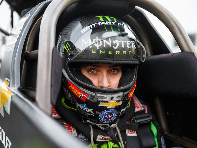 Brittany Force, born July 8, 1986 in Yorba Linda, Calif.,