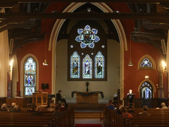 Good Friday mass at Christ Episcopal Church in Poughkeepsie