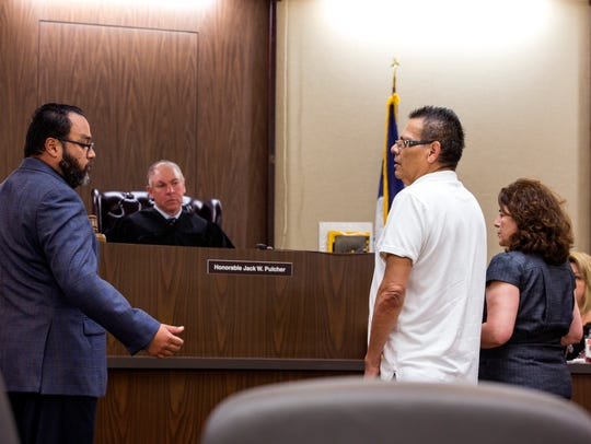 Prosecutor Reynaldo Pena (from left) questions Jose
