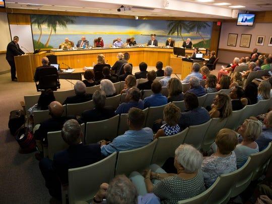 A Naples City Council meeting.