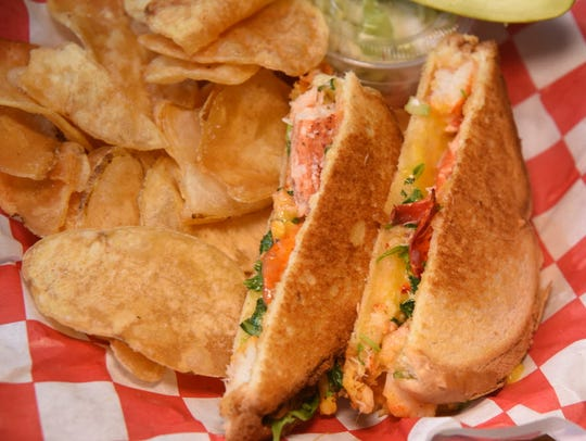 The lobster grilled cheese from Jack's Lobster Shack