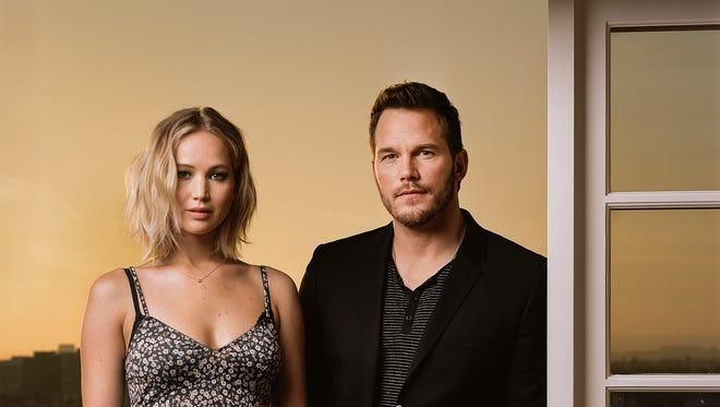 Jennifer Lawrence and Chris Pratt were first-time co-stars with great chemistry in 'Passengers.'