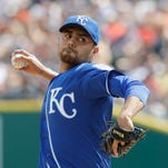 Kansas City Royals relief pitcher Joakim Soria throws during the ninth inning of a baseball game against the Detroit Tigers, Sunday, July 17, 2016 in Detroit. (AP Photo/Carlos Osorio)