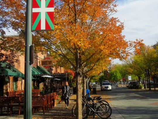 The Basque flag is displayed on Boise's Basque Block.