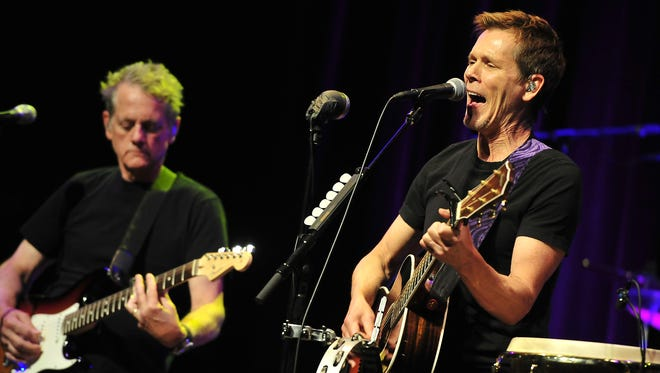 Kevin Bacon, right, and Michael Bacon of the Bacon Brothers in 2014.