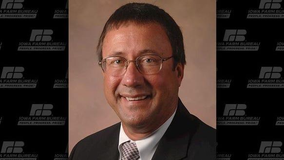 The Iowa Farm Bureau Federation named Joe Johnson its