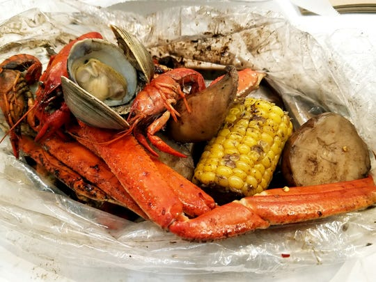 P3 Cajun Seafood Boil's sample bag is a choice of one