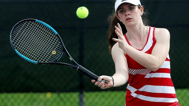 Carly Price did not lose a match during the regular season as a junior with the Hingham High girls tennis program.