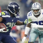 Seahawks running back Marshawn Lynch, seen carrying against the Cowboys on Nov. 1, plans to retire, his agent said Monday.