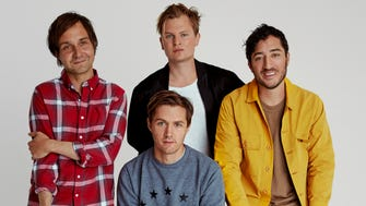 Daniel Rossen, left, Chris Bear, Chris Taylor and Ed Droste of indie-rock band Grizzly Bear.