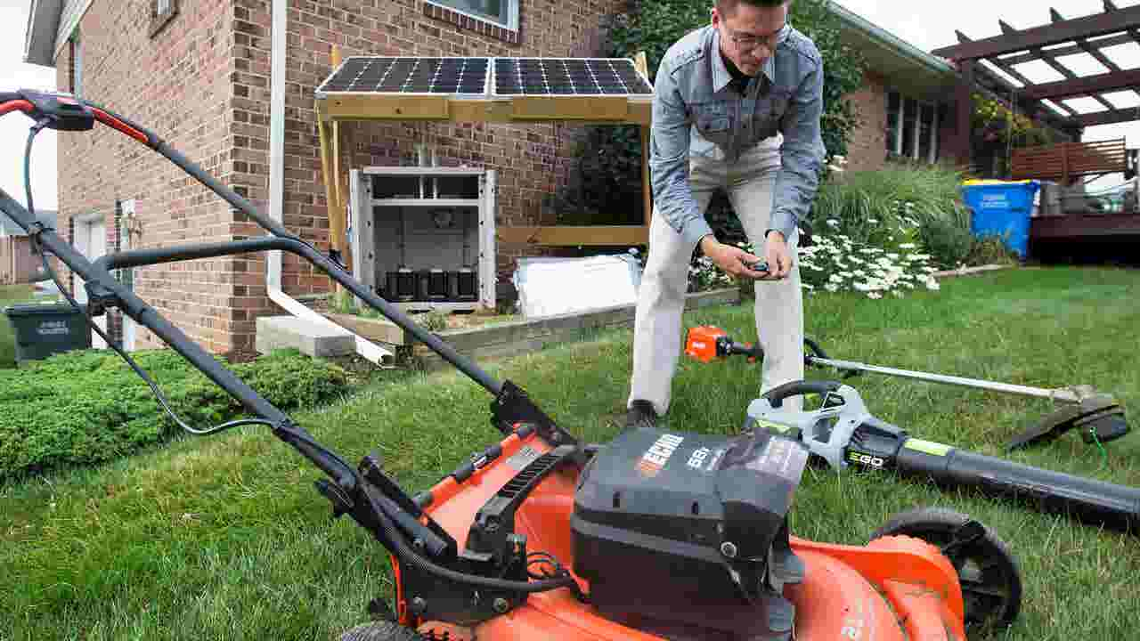 york college student harnesses the sun to power lawn care business