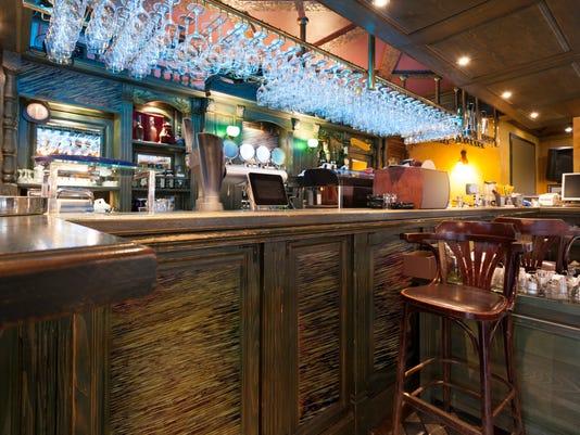 Bar in a modern cafe