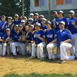 The Scott baseball team poses with the 10th Region title Friday.