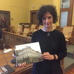 Audery Reich, the daughter of Holocaust survivor Ron Unger, shared her father's story in the City of Poughkeepsie Thursday.