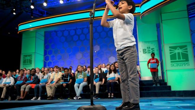 Six-year-old Akash Vukoti, of San Angelo, Texas, already speaks three languages.
