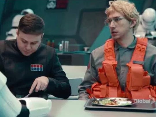 "Kylo Ren, as ""Matt, the radar technician,"" brags about"