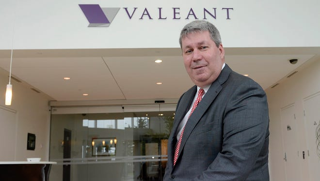 File photo taken in 2015 shows Valeant Pharmaceuticals International CEO J. Michael Pearson at the drugmaker's headquarters near Montreal, Canada.