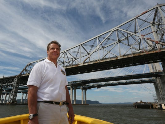 Gov. Cuomo views the Cuomo Bridge