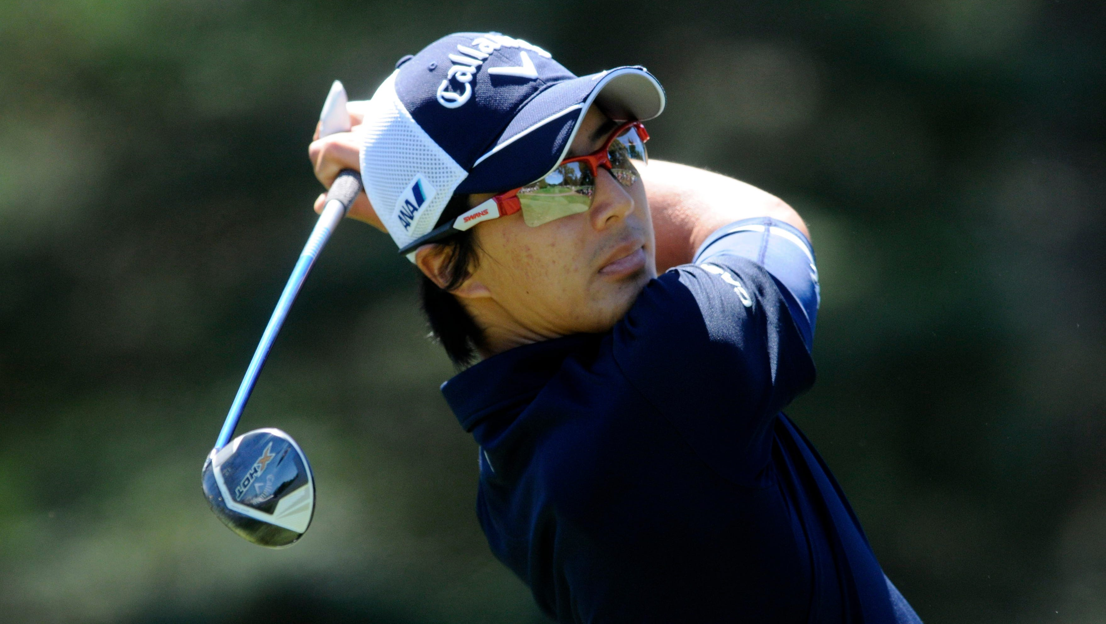 Ryo Ishikawa tees off on the 7th hole.
