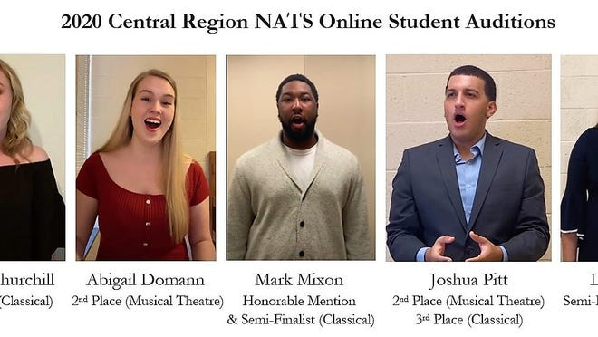 Pictured are the 2020 Central Region NATS Online student audition participants from WIU.