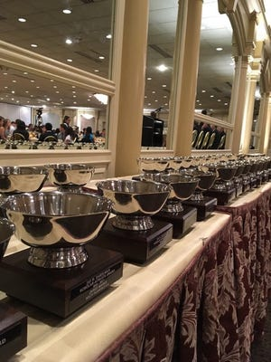 Awards presented during Monday night's annual Jay H. Dakelman Greater Middlesex Conference Scholar-Athlete Banquet
