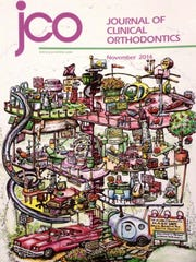 "Anderson's drawing of a fantastical, Rube Goldberg-like orthodontics clinic was on the cover of last November's issue of the ""Journal of Clinical Orthodontics."""