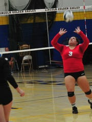 Richmond defeated Lincoln 3-2 in volleyball Tuesday,