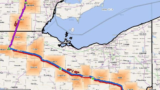 The route of the proposed pipeline.