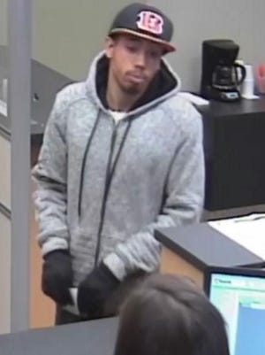 Springfield Township police are seeking this man in connection with the robbery of a US Bank Friday afternoon.