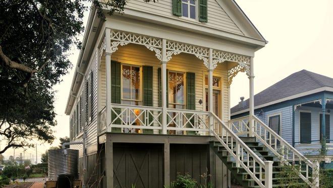 A historic building rehabilitated through tax credits.