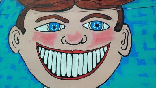 Tillie, as depicted by artist Patricia Arroyo at Tillie's Funhouse in Wall.