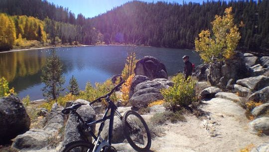 Getting to the Flume Trail from Spooner Backcountry State Park takes riders past Marlette Lake.