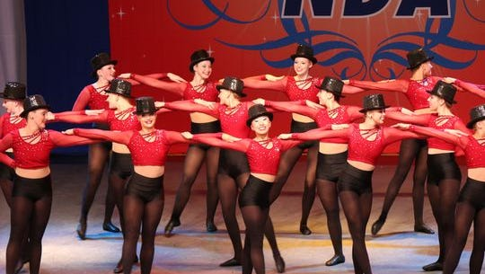 Ankeny Centennial dance team members compete at a national competition in Florida.