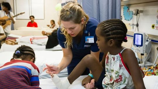 Newkirk is volunteering as nurse abroad the African Mercy, a charity hospital ship off the coast of Madagascar.