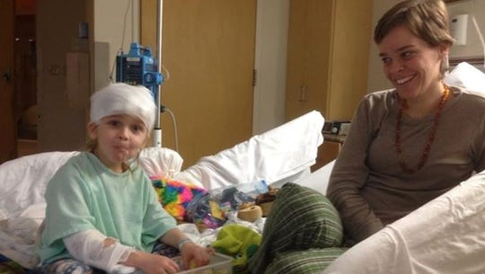 Lacey and Garnett Spears in his room at Nyack Hospital, days before his death.