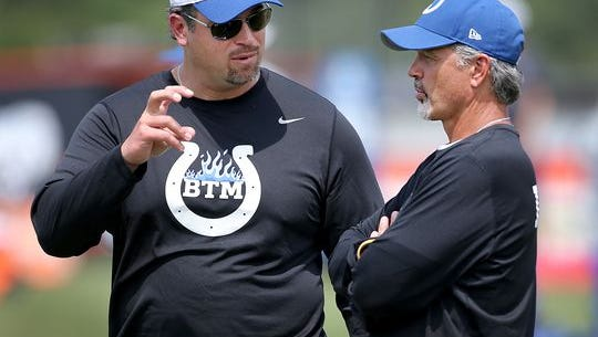 Colts general manager Ryan Grigson and coach Chuck Pagano will have to learn to get along.