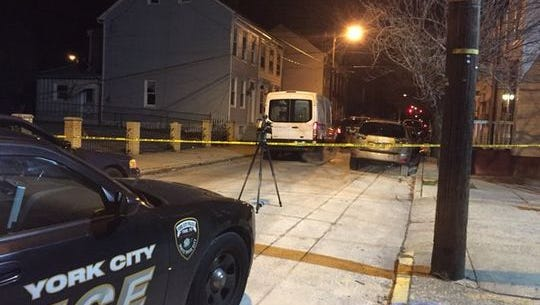 York City Police responded to a shooting Monday night on South Hartley Street in York.