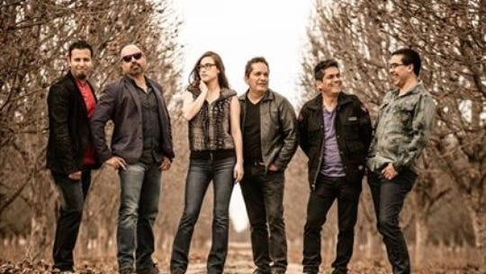 """Desierto Vivo, with lead singer Jorge Alvidrez, far left, will sing their song, """"Francisco Es,"""" before the papal Mass on Feb. 17 in Juárez."""