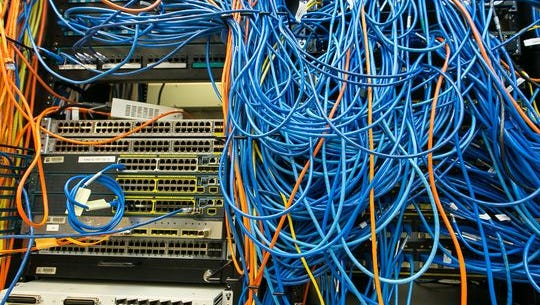 Pictured are various routing systems in a server room at New Mexico State University. Robin Zielinski / Sun-News
