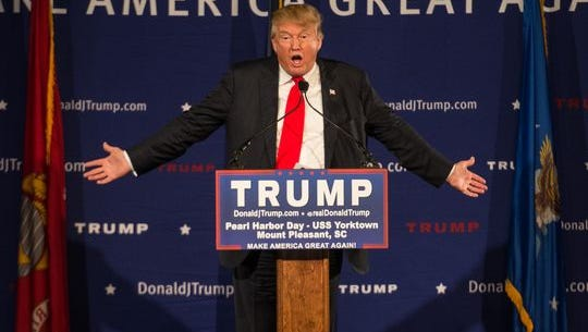 Republican presidential candidate Donald Trump speaks at a rally in Mt. Pleasant, S.C., on Dec. 7, 2015.